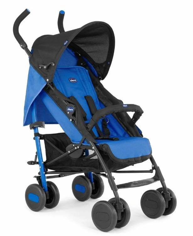 Chicco Echo stroller с бампером Power Blue